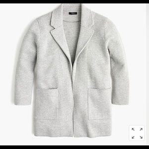Grey JCrew Sophie Sweater Blazer
